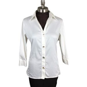 Additions by Chico's White Button Down Blouse 1